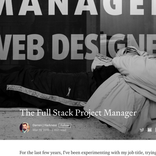 The Full Stack Project Manager